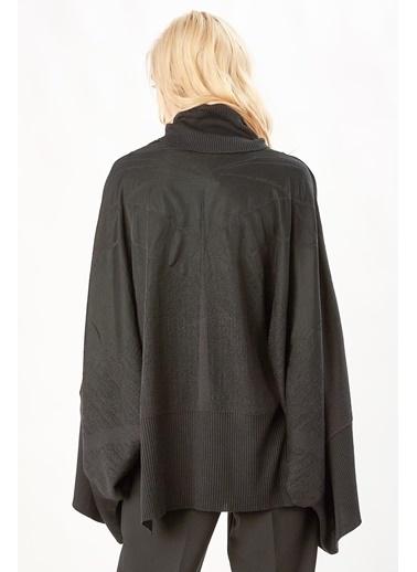 Peraluna Peraluna Siyah Renk Geniş Kollu Salaş Kadın Triko Bluz Siyah